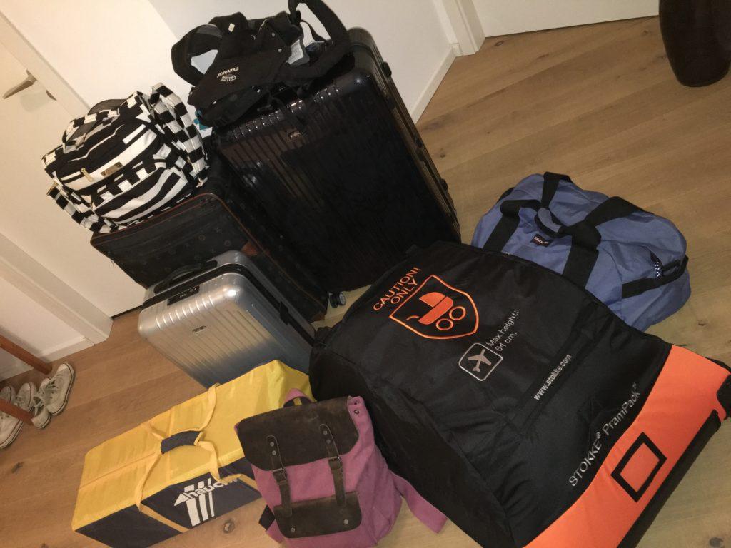 So viel Gepäck